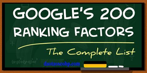 200 yếu tố xếp hạng của google 2