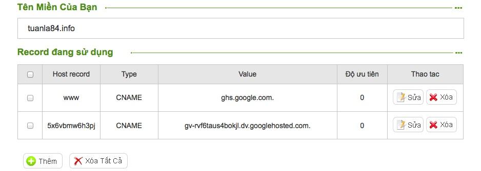Cài đặt tên miền ( domain ) Vào blogger 5
