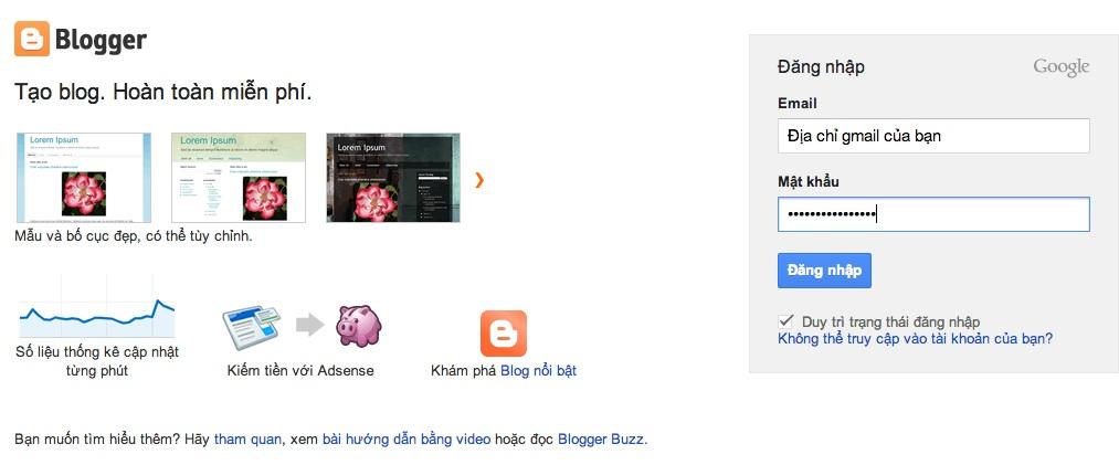 Cài đặt tên miền ( domain ) Vào blogger